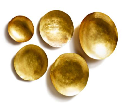 Form Bowl Set - Gold